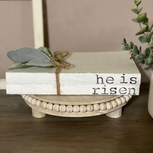Farmhouse Easter Decor Stamped Books